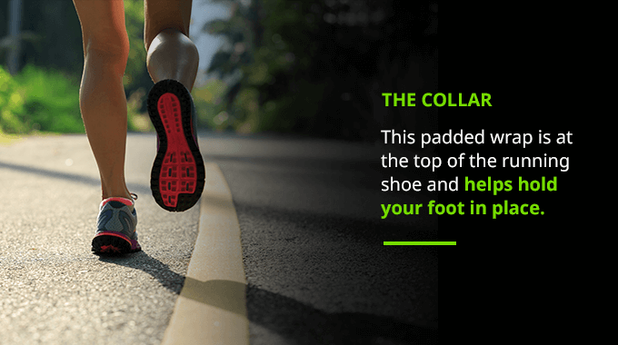 running shoe collar