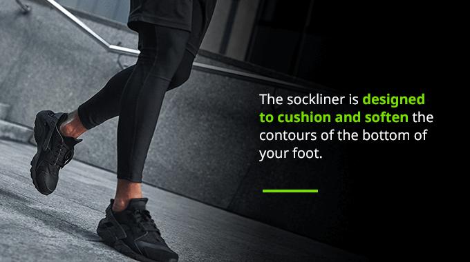 sockliner in running shoes