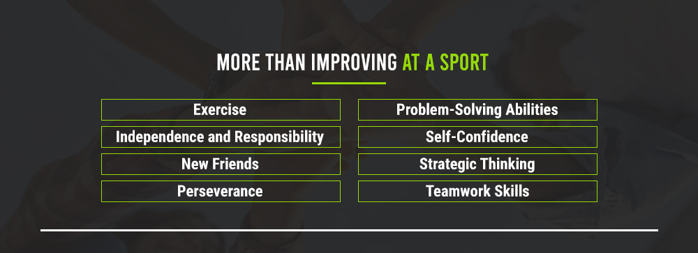 graphic explaining sports camps are more than just improving at a sport
