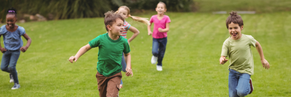 kids running and smiling