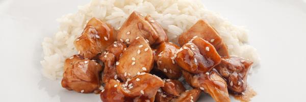 chicken teriyaki with white rice