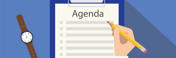 Agenda list with watch