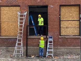 Installation of window frames