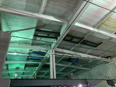 Kitchen roof frames installed