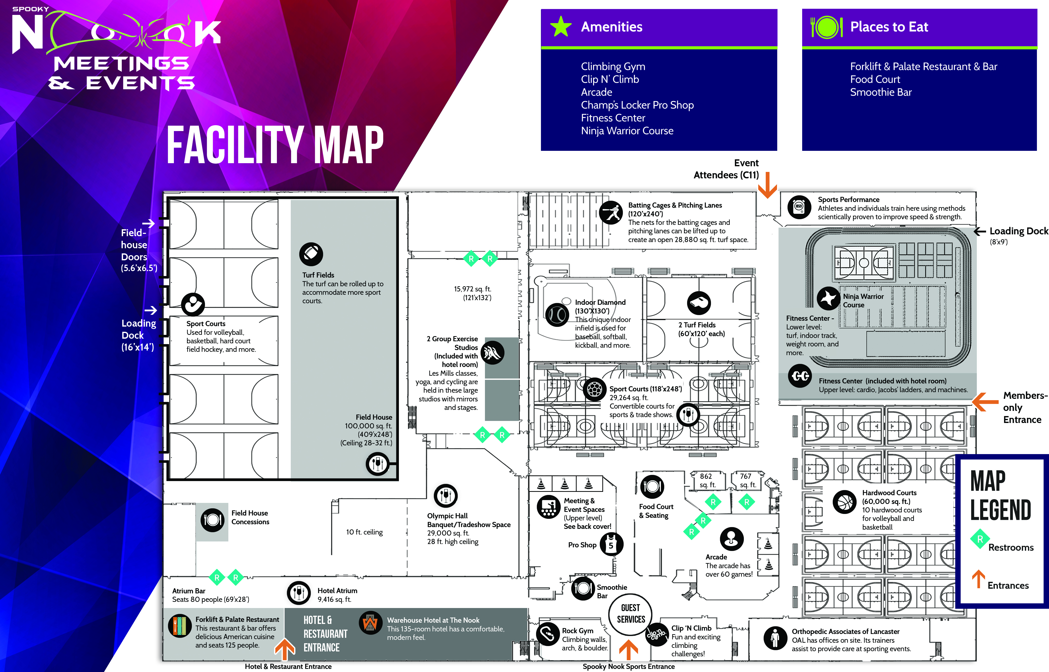 Meeting Planner bifold inside map
