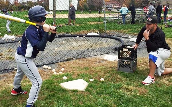Aaron-Herr-coaching. Baseball Academy Instructors and Coaches