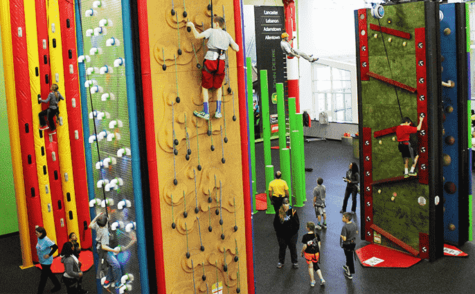 Clip 'N Climb at Spooky Nook Sports