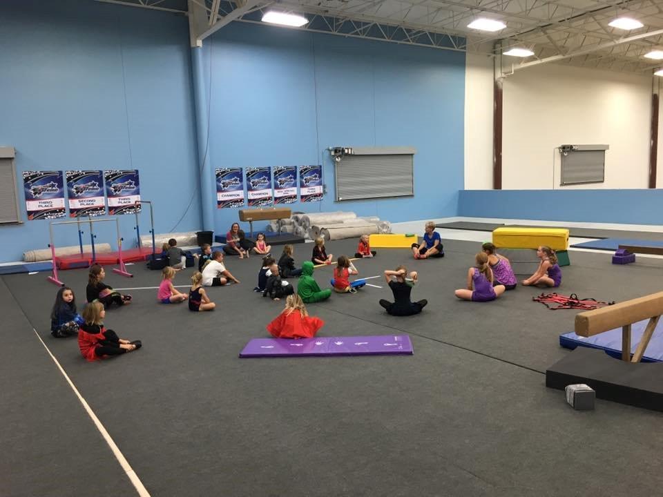 Nook Gymnastics Themed Birthday Party