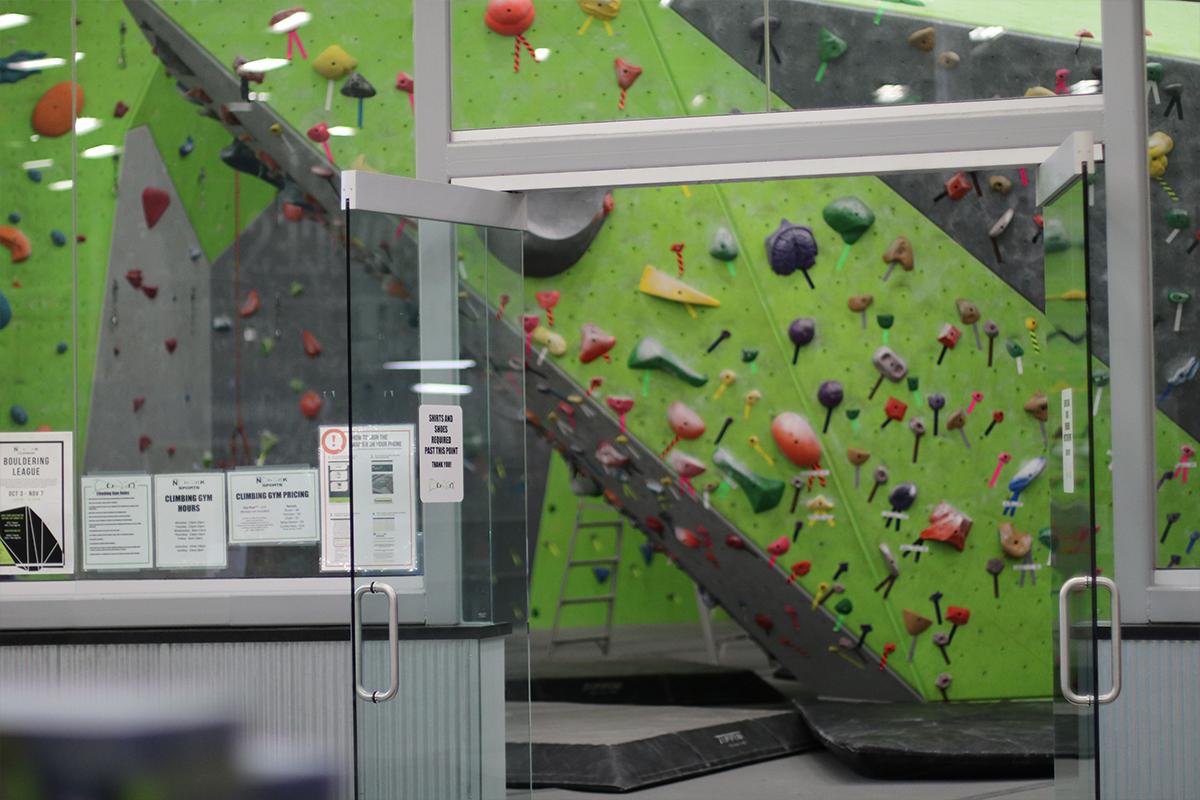 Climbing entrance