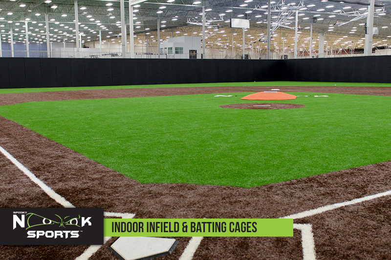 Indoor Infield and Batting Cages
