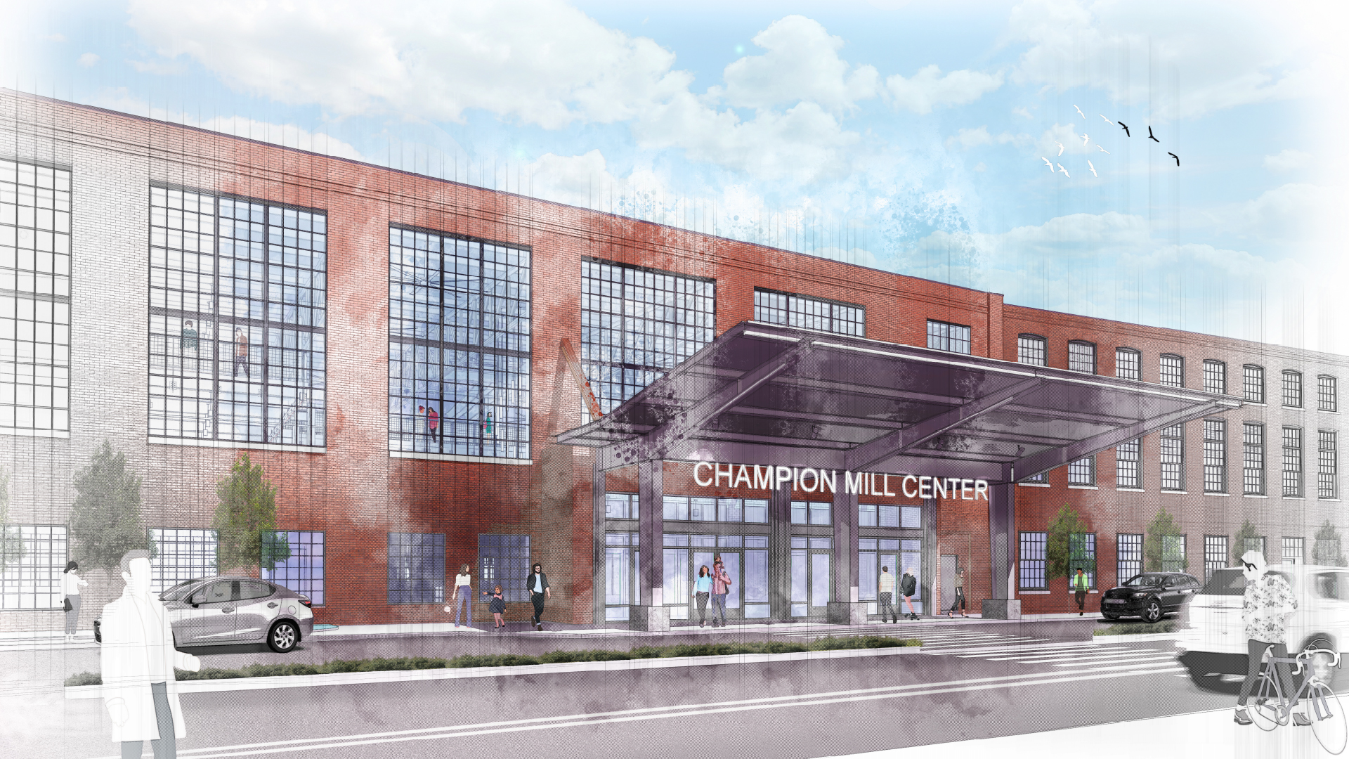 State of City 2019 Slide Deck_0012_Champion Mill No. 2 - Renderings Entrance