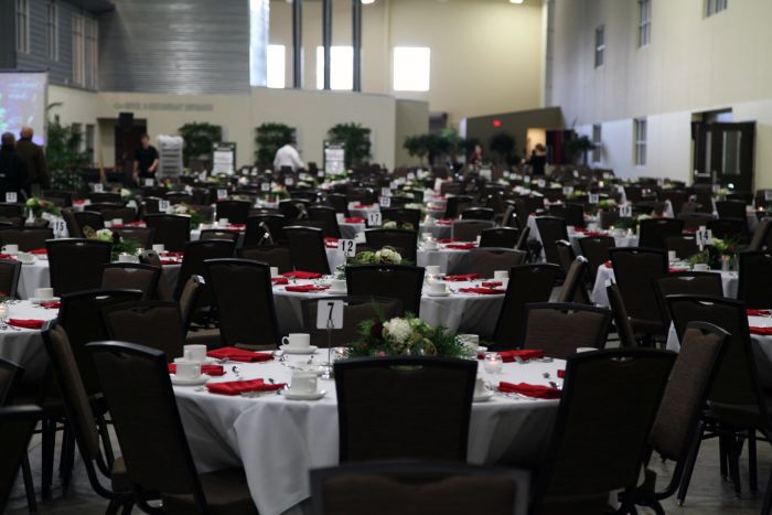 tables ready for guests to attend keynote speech